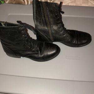 Steve Madden Black Combat Boot